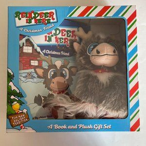 NIB- Reindeer in Here Book and Toy